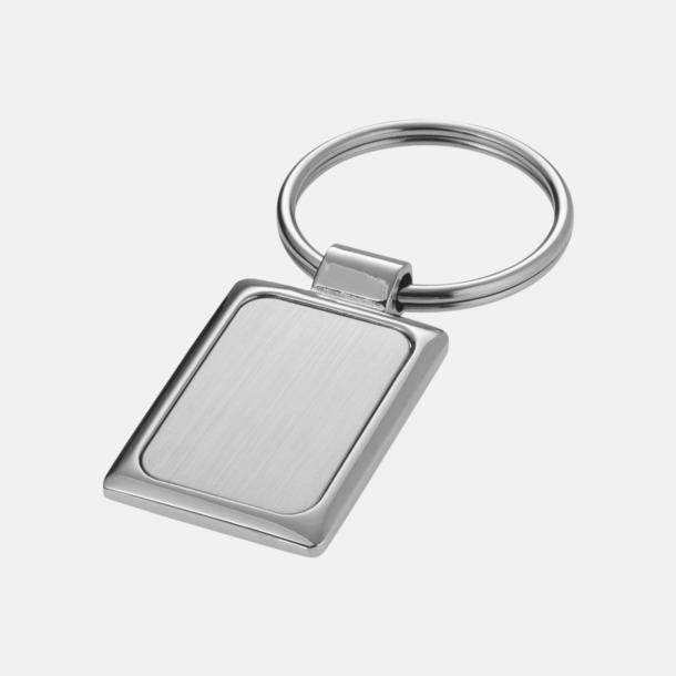 Silver Fyrkantiga nyckelringar med eget reklamtryck