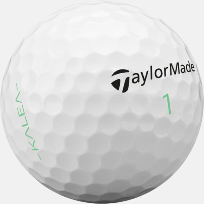 Vit TaylorMades kalea-golfbollar med reklamtryck