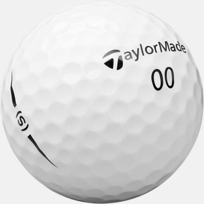 Vit 2018 nya TaylorMade golfbollar med reklamtryck