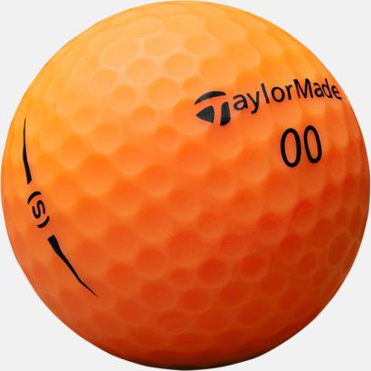 Orange 2018 nya TaylorMade golfbollar med reklamtryck