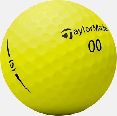 Gul 2018 nya TaylorMade golfbollar med reklamtryck