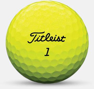 Gul 2018 nya Titleist golfbollar med reklamtryck
