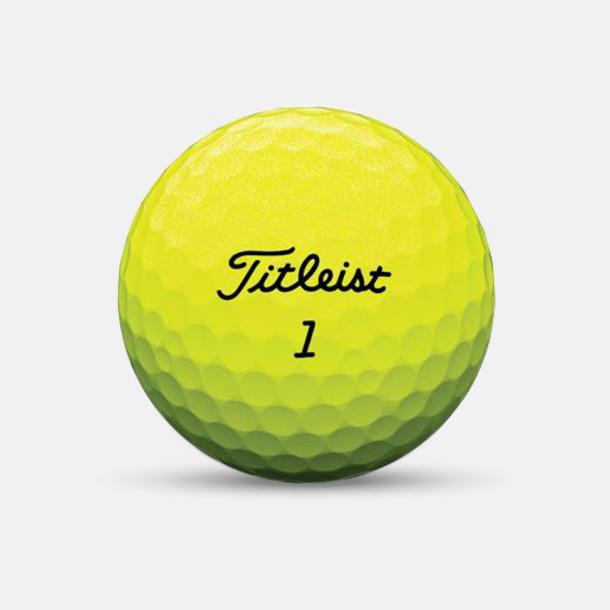 Gul Titleist golfbollar med reklamtryck