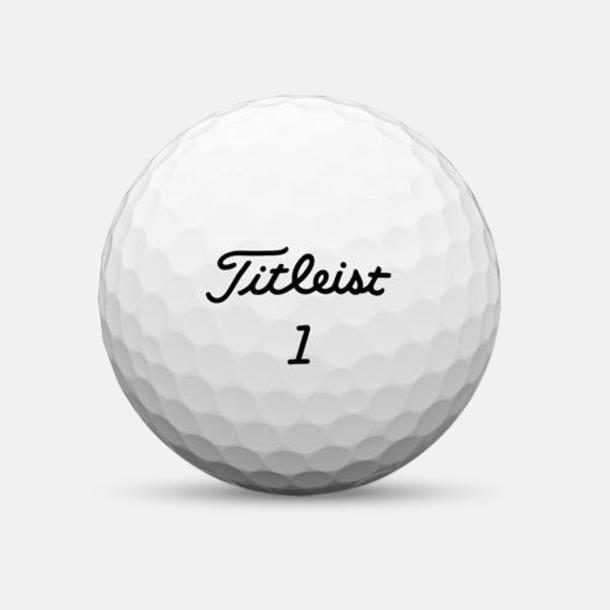 Vit Titleist golfbollar med reklamtryck
