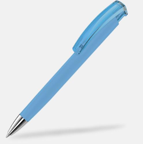Ljusblå (metallspets) Trekantiga mjuka pennor med reklamtryck