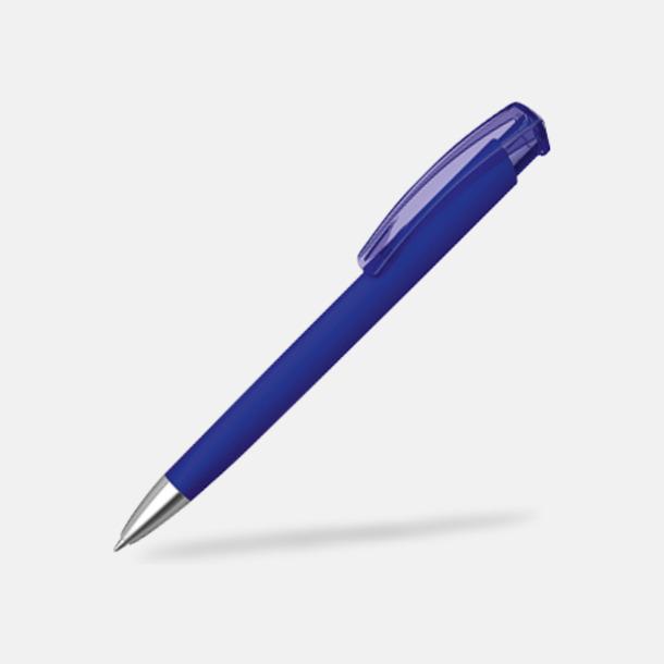 Mörkblå (metallspets) Trekantiga mjuka pennor med reklamtryck