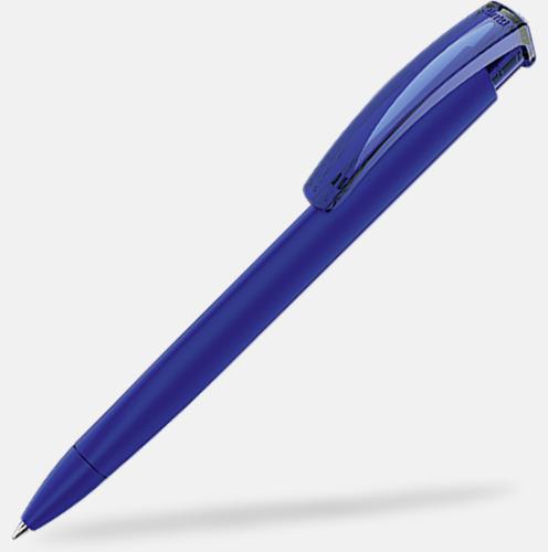 Mörkblå (plastspets) Trekantiga mjuka pennor med reklamtryck