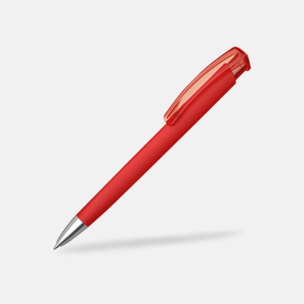 Röd (metallspets) Trekantiga mjuka pennor med reklamtryck
