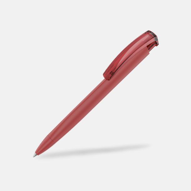 Röd (plastspets) Trekantiga mjuka pennor med reklamtryck