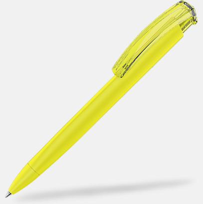 Gul (plastspets) Trekantiga mjuka pennor med reklamtryck