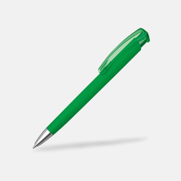Ljusgrön (metallspets) Trekantiga mjuka pennor med reklamtryck