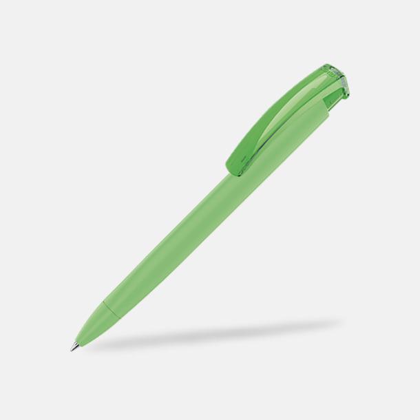 Ljusgrön (plastspets) Trekantiga mjuka pennor med reklamtryck