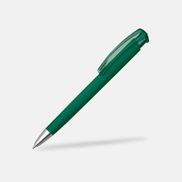 Mörkgrön (metallspets) Trekantiga mjuka pennor med reklamtryck