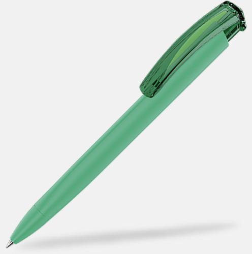 Mörkgrön (plastspets) Trekantiga mjuka pennor med reklamtryck