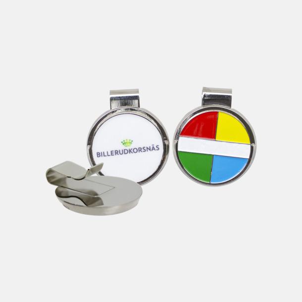 Silver Hatclip markeringsknapp med eget reklamtryck