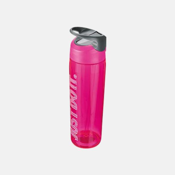 Vivid Pink/Cool Grey/Vit (710 ml) Vattenflaskor från Nike i 2 storlekar med reklamtryck