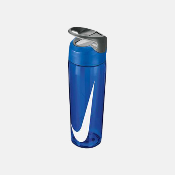 Game Royal/Cool Grey/Vit (710 ml) Vattenflaskor från Nike i 2 storlekar med reklamtryck