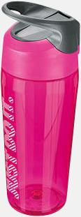 Vivid Pink/Cool Grey/Vit (473 ml) Vattenflaskor från Nike i 2 storlekar med reklamtryck