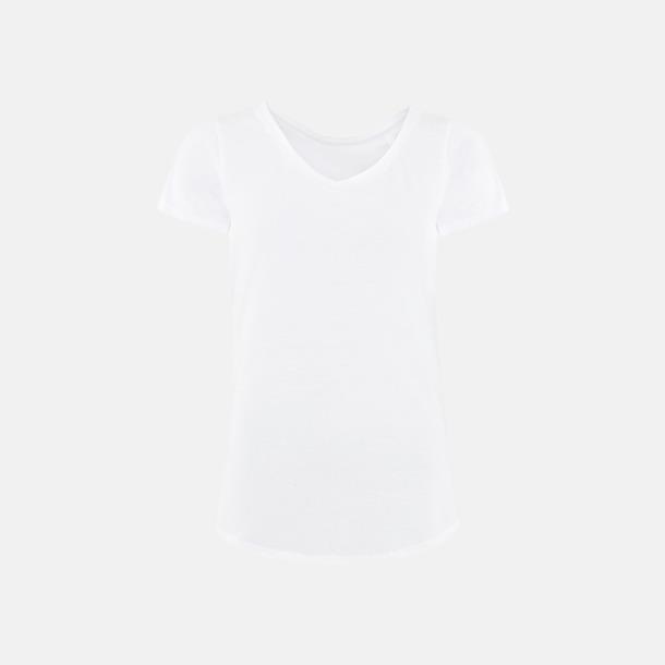 Vit (dam) Sov t-shirts med reklamtryck