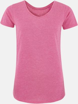 Pink Marl (dam) Sov t-shirts med reklamtryck