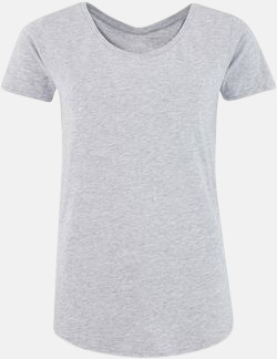 Heather Grey (dam) Sov t-shirts med reklamtryck