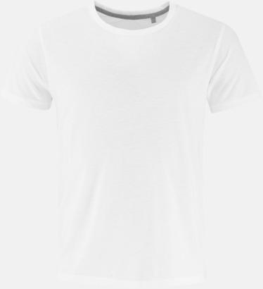 Vit (herr) Sov t-shirts med reklamtryck