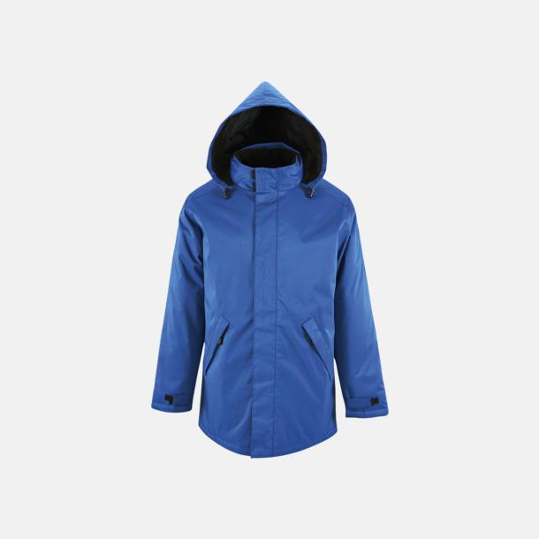 Royal Blue Vadderade jackor i unisexmodell med reklamtryck