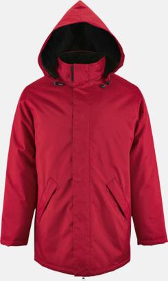 Röd Vadderade jackor i unisexmodell med reklamtryck