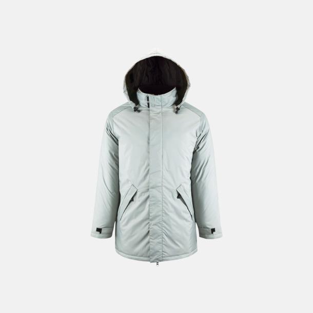 Metal Grey Vadderade jackor i unisexmodell med reklamtryck