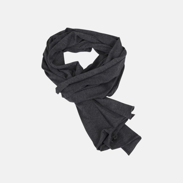 Charcoal (heather) Lightweight halsdukar med eget tryck