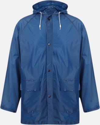 Marinblå Billiga regnkappor med reklamtryck