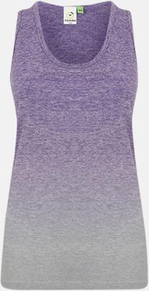 Purple - Light Grey Marl Sömlösa linnen med reklamtryck