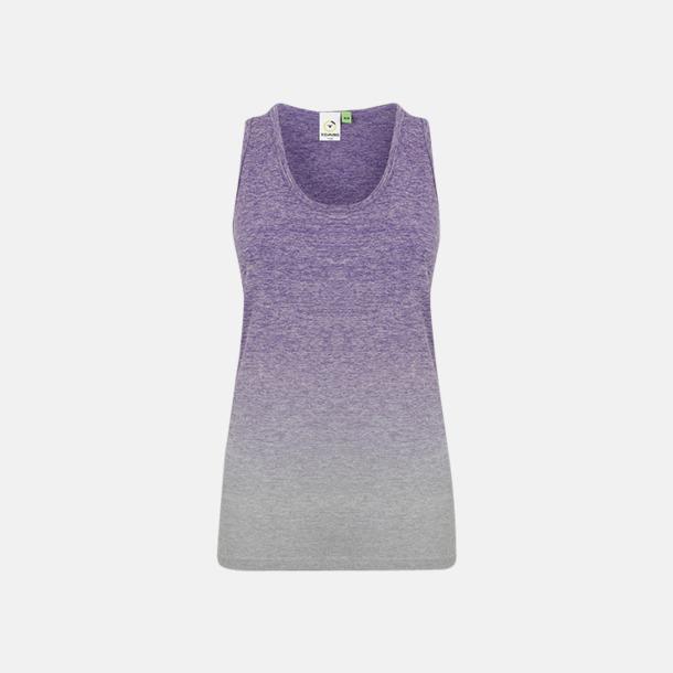 Purple - Light Grey Marl (dam) Sömlösa linnen med reklamtryck
