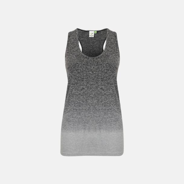 Dark Grey - Light Grey Marl (dam) Sömlösa linnen med reklamtryck