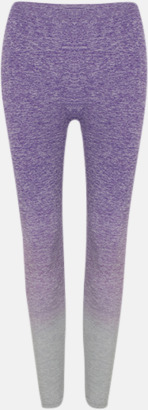 Purple - Light Grey Marl Sömlösa leggings med reklamtryck
