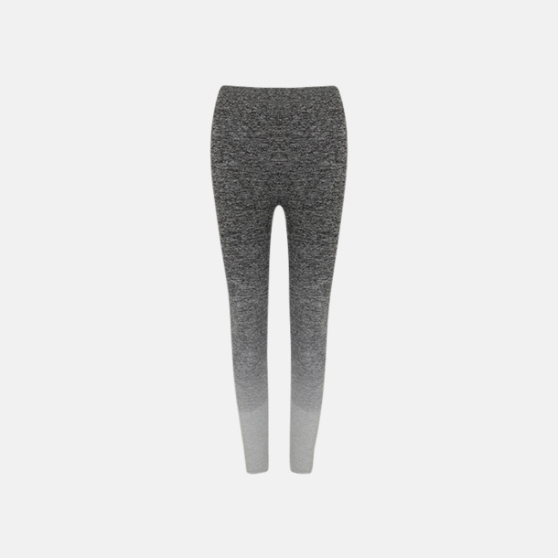 Dark Grey - Light Grey Marl Sömlösa leggings med reklamtryck