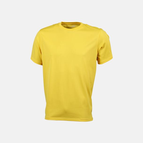 Gul Funktions t-shirts i många färger - med reklamtryck