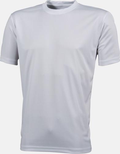 Vit Funktions t-shirts i många färger - med reklamtryck