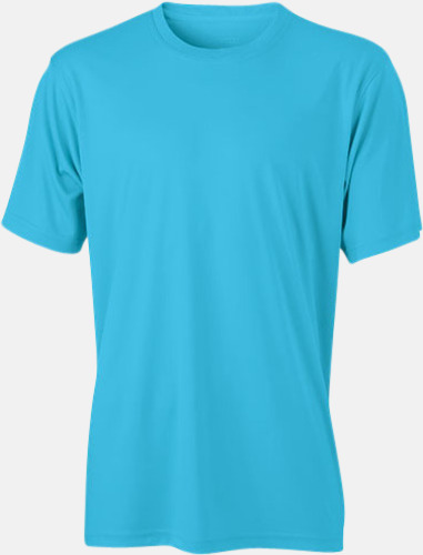 Turkos Funktions t-shirts i många färger - med reklamtryck
