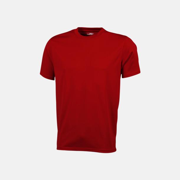 Röd Funktions t-shirts i många färger - med reklamtryck