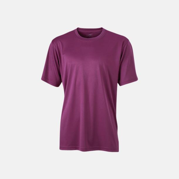 Lila Funktions t-shirts i många färger - med reklamtryck