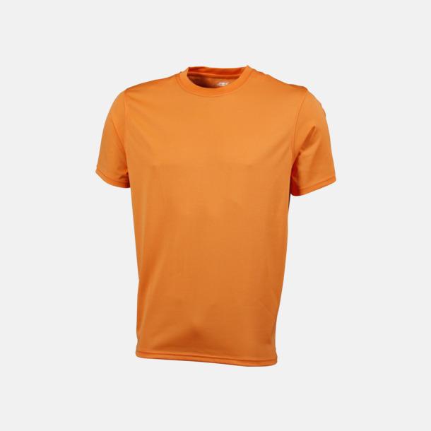 Orange Funktions t-shirts i många färger - med reklamtryck