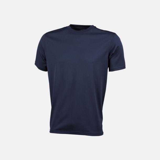 Marinblå Funktions t-shirts i många färger - med reklamtryck