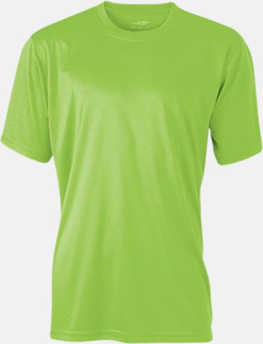 Limegrön Funktions t-shirts i många färger - med reklamtryck