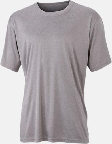 Light Melange Funktions t-shirts i många färger - med reklamtryck