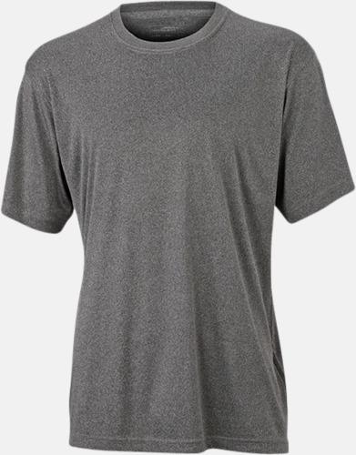 Dark Melange Funktions t-shirts i många färger - med reklamtryck