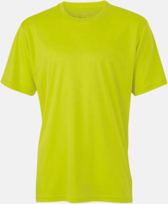 Acid Yellow Funktions t-shirts i många färger - med reklamtryck