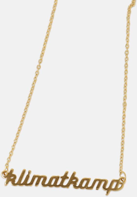 Guld- och silver pläterade halsband med eget namn