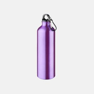 Större sportflaskor med karbinhake - med reklamtryck