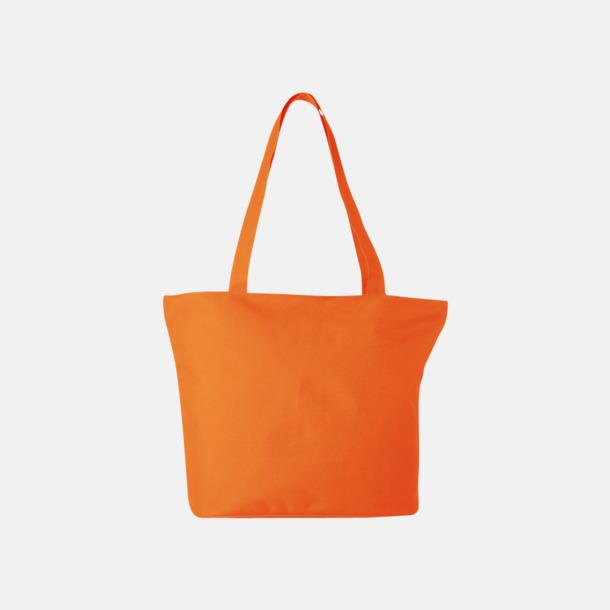 Orange Polyester tygpåsar med reklamtryck